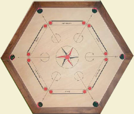 Table de carrom hexagonale